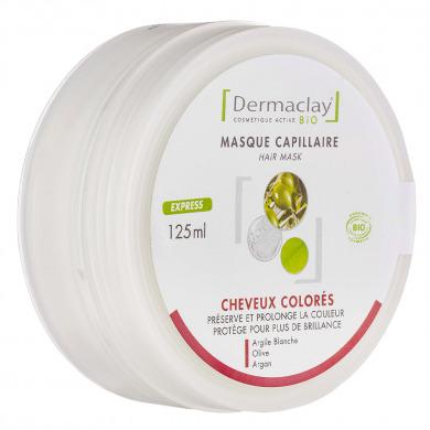 DERMACLAY - Masque cheveux colorés