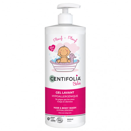 Gel lavant corps et cheveux bébé